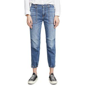 Nili Lotan Cropped French Military Jeans 28